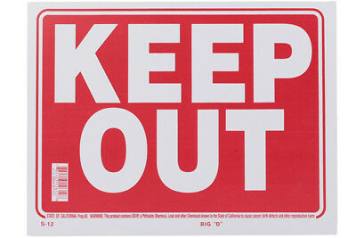 Sign Keep Out 20 x 30.5cm Security Privacy Free Shipping