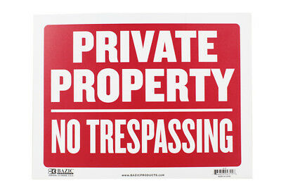 Sign Private Property No Trespassing 20 x 30.5cm Security Privacy Free Shipping