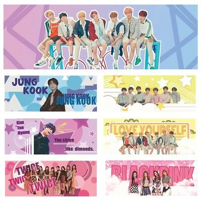 KPOP BTS Love Yourself Bangtan Boys TWICE BLACKPINK Poster Fans Support Banner