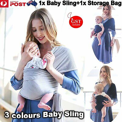 Baby Sling Carrier Wrap Stretchy Adjustable Infant Breastfeeding Pouch Newborn A