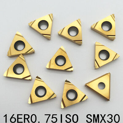 16ER 0.75ISO SMX30 Threading Blade CNC Carbide Insert For Stainless Steel 10P