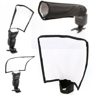 Foldable Flash Diffuser Reflector Sealed Snoot Speedlight Softbox Bender Beam