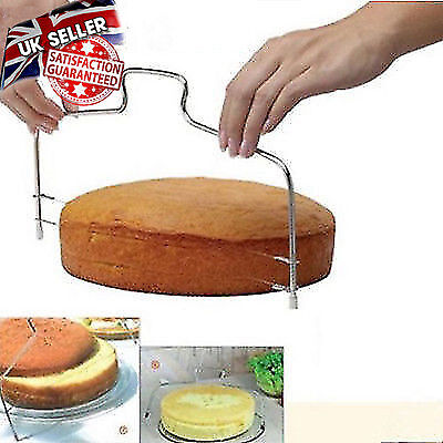 Adjustable Stainless Steel 2 Wire Cake Slicer Bread Leveler Dough Cutter Tools