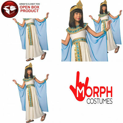 Morph Girls Cleopatra Costume Kids Egyptian Princess Dress Queen of The Nile...