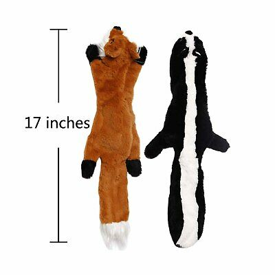 Pet Dog Cat Plush Chew Sound Squeaker Squeaky Training Toy Rabbit Wolf Toys