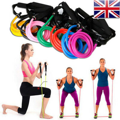 UK TOP Resistance Elastic Latex Bands Tube Pull Rope Fitness Exercise Equipment
