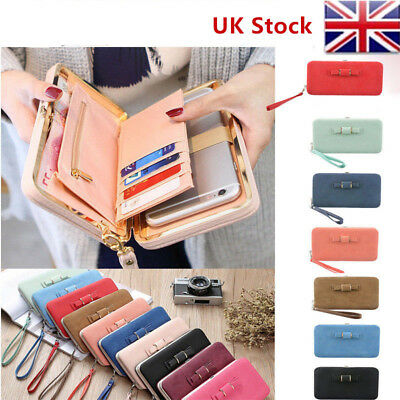 Ladies Purses Portable Leather Wallet  Bus pass Travel Credit Card Holder