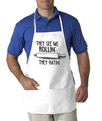 They See Me Rollin Apron Funny Cookout Summer Apron One Size Fits Most