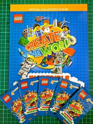 Lego Incredible Inventions Create The World Album Book Sainsbury's & 20 Cards