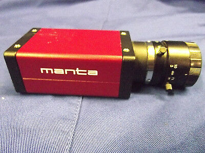 AVT Manta G-046B ASG Mono Machine Vision Camera with Lens