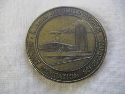 Vintage 1972 Kansas City Airport Dedication Medal