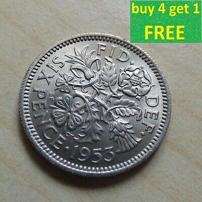 Elizabeth II Sixpence 6D Coins Choose your date 1953 - 1970