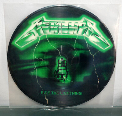 Metallica - Ride The Lightning Green Pic LP Picture Disc Vinyl Record Ultra Rare