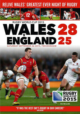 Rugby World Cup 2015: Wales Vs England DVD (2015) Wales (RFU) cert E ***NEW***