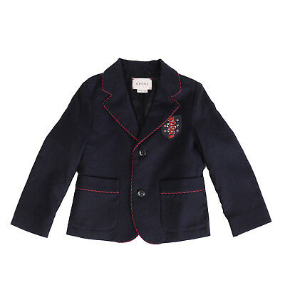 5627d1c7d1e GUCCI Wool Blazer Jacket Size 18-24M Embroidered Patch Made in Italy RRP  €510