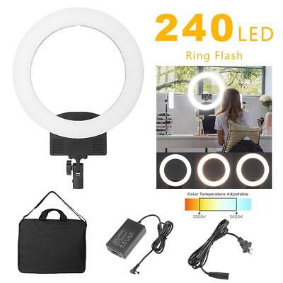 36W 240 LED Ring Light 5500K Camera Photo Video Photography Dimmable Ring Lamp