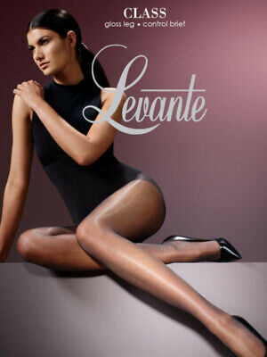 Levante Class Control Top Tights, Sheer Slimming Gloss Pantyhose