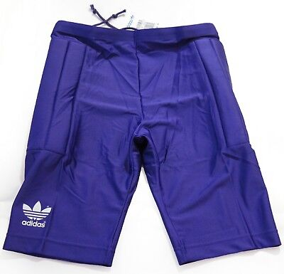 Adidas Diego Goal Keepers 1/4 Mens Purple Football Padded Lycra  Shorts