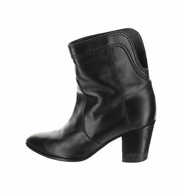8d0db8e9 CHANEL BLACK LEATHER Ankle Boots, UK 7 US 9 EU 39