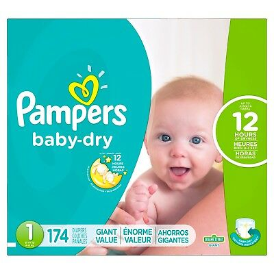 Pampers Baby Dry Diapers Giant Pack (Size 1) 174 ct