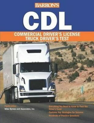 NEW Barron's CDL By Mike Byrne Paperback Free Shipping