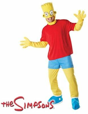 """Bart Simpson Mans X Large Fancy Dress Full Outfit Costume Size 42"""" - 46"""" Chest"""