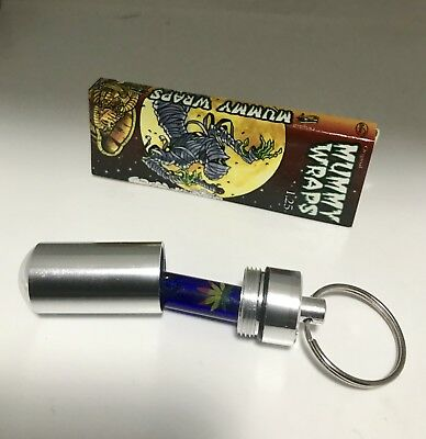 Glass Roach Filter Tip Reusable Container Mummy Wraps Hemp 1 1/4 Rolling Papers