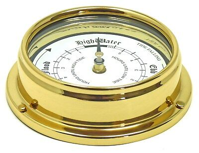 Tabic Solid Brass Tide Clock, Weighs approx. (1/2 kg), Handmade in England