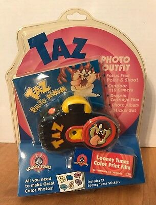 1998 TAZ Looney Tunes Photo Outfit With Film & Photo Album MIP!