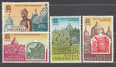 Indonesia - Correo 1975 Yvert 739/42 ** Mnh  UNESCO