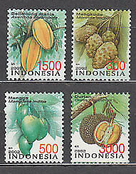 Indonesia - Correo 2002 Yvert 1954/7 ** Mnh  Frutos