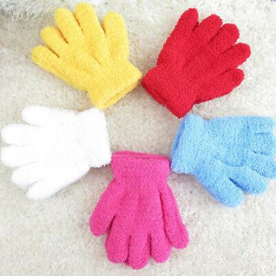 Infant Baby Kids Full Finger Warm Winter Gloves Toddler Xmas Gifts Mittens