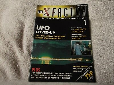 """""""THE X-FACTOR"""" magazine - issue #1 - UFOs, Paranormal, Cover-ups + more! - LOOK!"""
