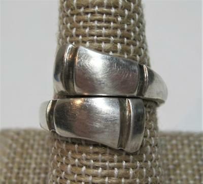 Vintage TOWLE Sterling Silver Adjustable Spoon Ring Solid Design 7g Sz 8