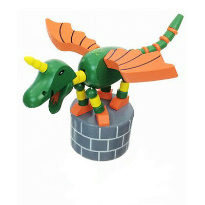 Classic Wooden Toy Push Puppet DULCY THE DRAGON Fairy Tale Magic