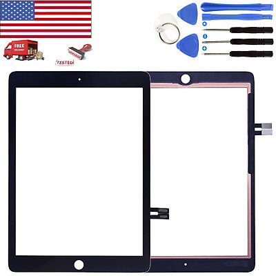 """Black Front Touch Screen Digitizer Glass For 2018 iPad 6 6th Gen 9.7""""A1893 A1954"""