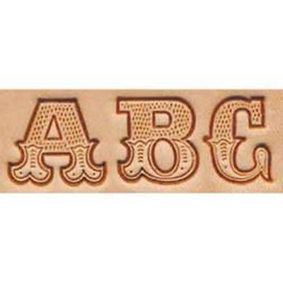"""Craftool 3/4"""" Art Alphabet Stamp Set Tandy Leather 8145-00 Free Priority to US!"""
