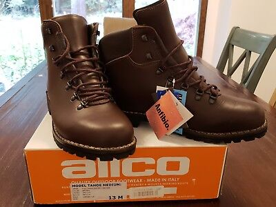 2bbe5ec2497 MENS ALICO TAHOE Leather Hiking Boots Dark Brown Size 13 Waterproof Hiking  Tough