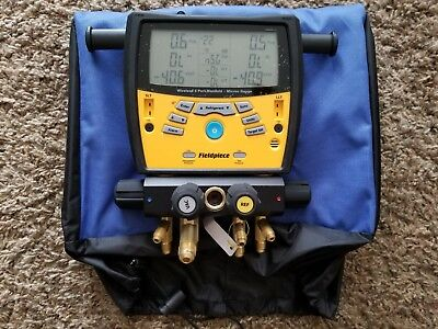 Fieldpiece SMAN460 Wireless 4-Port Digital Manifold w/Micron Gauge