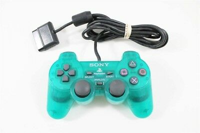 Original Sony Playstation 2 Emerald PS2 Dualshock 2 Controller