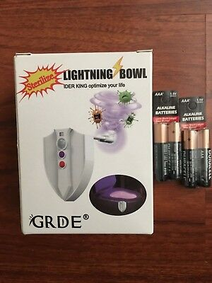 Toilet LED Night Light With UV Sterilization And 8 Color Motion Activated Sensor