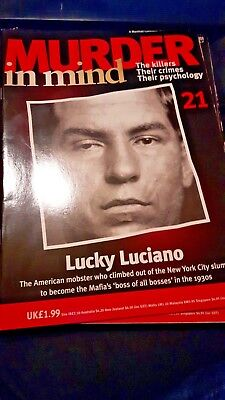 Murder In Mind Magazine Based On True Crimes Issue 21 Lucky Luciano