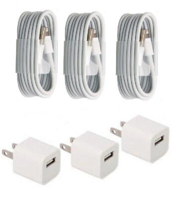 Wall Charger and Lightning USB Cable For iPhone X 8 7 6 5 SE plus High quality