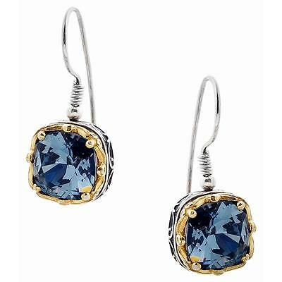 S170 ~ Sterling Silver & Swarovski Medieval Drop Earrings