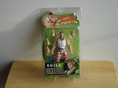 SOTA TOYS STREET FIGHTER ROUND 3 GUILE ACTION FIGURE (Red, White, and Blue) NEW