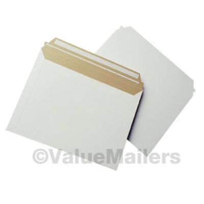 "12.5"" x 9.5"" Self Seal White Photo Flat Cardboard Envelope Mailers 100 to 2000"