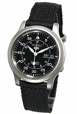 Seiko Men's Seiko 5 Automatic Stainless Steel Watch with Canvas Strap # SNK809