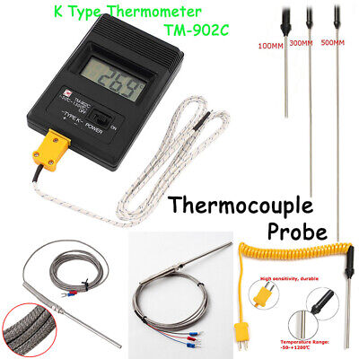 Digital K-Type Thermocouple Probe Sensor High Temperature Threads Controller Kit