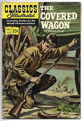Classics Illustrated #131 (1969) – The Covered Wagon – HRN 169 Stiff Cover – FN