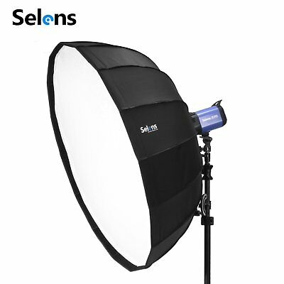 """65cm 26"""" Sliver Foldable Collapsible Beauty Dish Softbox Off-camera Flash"""